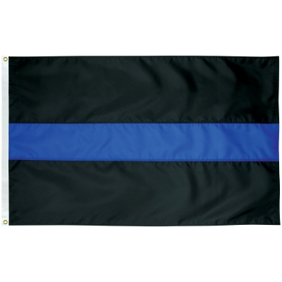 3\'x5\' Thin Blue Line flag